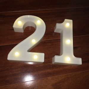 Other - Light Up Numbers Party Decorations